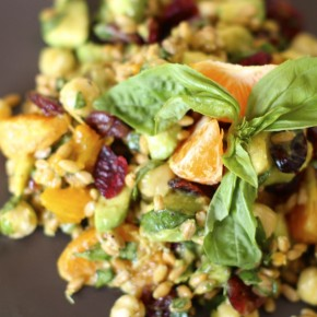 sprouted wheatberry salad raw 2