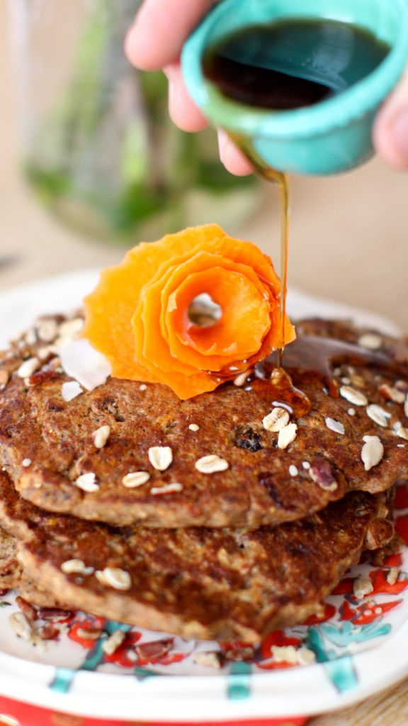 carrot bread pancakes vegan gluten free www.love-fed.com 2