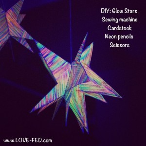 diy nursery art: hanging glow stars  love-fed.com