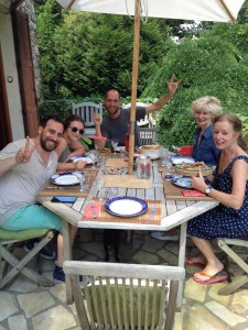 Family feast in France