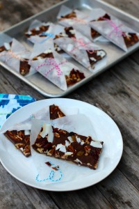 double chocolate trail mix bars 1