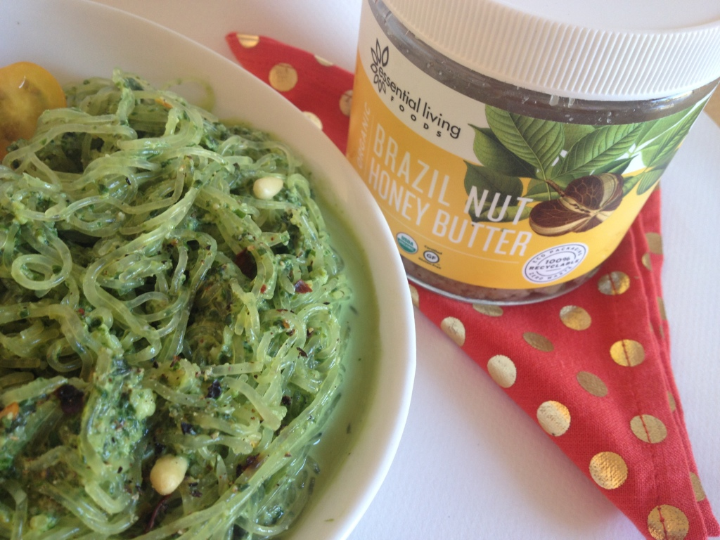 Raw Superfood Kelp Pesto Pasta inspired by Cafe Gratitude Venice Beach
