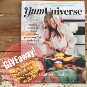 yum universe cookbook by heather crosby vegan cookbook