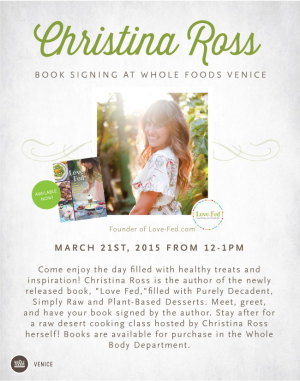 ChristinaRoss_BookSigning whole foods market venice beach