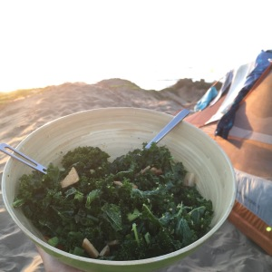 kale salad camping food